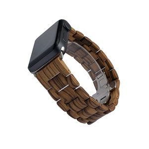42/44mm Wood Apple Watch Band | Handcrafted Design